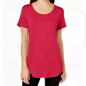 NWT JM Collection Red Crystal T-shirt